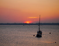 Sunset over Portsmouth Harbour Royalty Free Stock Image