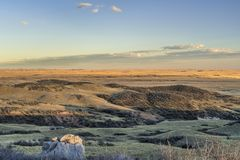 Sunset over prairie in northern Colorado Royalty Free Stock Image