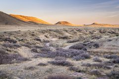 Sunset over prairie in northern Colorado Stock Image