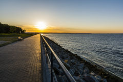 Sunset over the promenade. Royalty Free Stock Photos