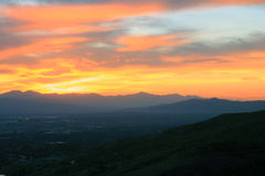 Sunset over Provo, Utah. Royalty Free Stock Photos