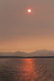 Sunset over Puget Sound Stock Photo