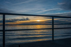 Sunset Over Puget Sound Royalty Free Stock Photo