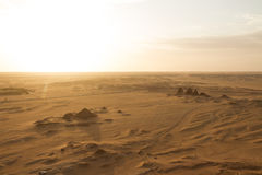Sunset over the pyramids at Jebel Barkal Royalty Free Stock Images
