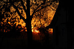 Sunset over a Ranch Royalty Free Stock Image