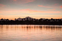 Sunset over the Red Sea Royalty Free Stock Photography