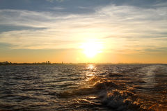Sunset over the Rio de la Plata Royalty Free Stock Image