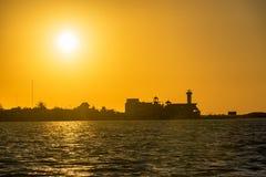 Sunset over Rio Lagartos Royalty Free Stock Photo