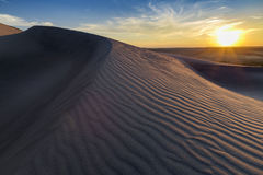 Sunset over rippled sand dune in Idaho Stock Image