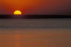 Sunset over river Chobe, Botswana. Stock Photos