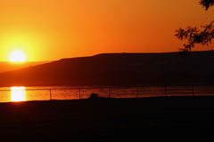 Sunset over River. Sunset over the Columbia River, Oregon Stock Images