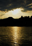 Sunset over river Dunajec Stock Photography