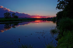 Sunset over the River in July. Stock Image