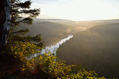 Sunset over the river, scenic landscape, Russia, Ural Stock Photo