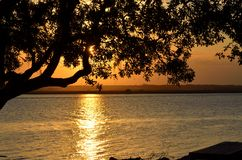 Sunset over river, St. Augustine, Florida Stock Images