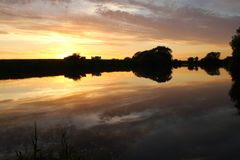 Sunset over the river trent Royalty Free Stock Photography