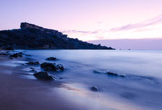 Sunset over Riviera Bay - Malta Stock Image