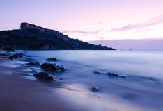 Sunset over Riviera Bay - Malta Stock Image