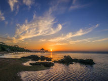 Sunset over Roatan Stock Images
