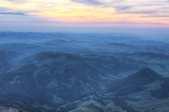 Sunset over rolling hills, Switzerland Royalty Free Stock Photo