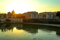 Sunset over Rome Royalty Free Stock Image