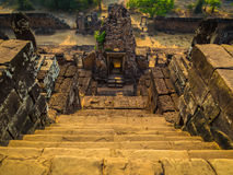 Sunset over ruins in Ta Keo, Angkor Wat Stock Images