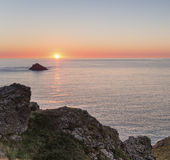 Sunset over the Rumps Royalty Free Stock Photography