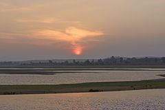 Free Sunset Over Rural River Royalty Free Stock Image - 76379736