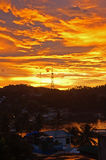Sunset over sabang Stock Image
