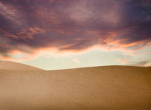 Sunset over Sahara desert Royalty Free Stock Photo