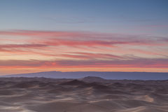 Sunset over Sahara desert. Sunset over the Sahara desert. Morocco Royalty Free Stock Photography