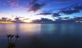 Sunset over Samoa Royalty Free Stock Photography