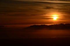Sunset. Over the San Francisco Bay Stock Photos
