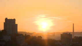 Sunset over San Francisco Bay stock video