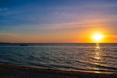 Stunning sunset over San Remigio, Cebu, Philippines Royalty Free Stock Photos
