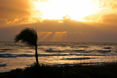 Sunset over Sanibel coastline Stock Image