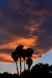 Sunset. Over Santa Barbara California USA Stock Photo