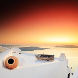 A sunset over Santorini island Royalty Free Stock Photography