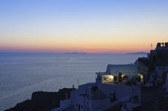 Sunset over Santorini, Oia Stock Image