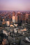 Sunset over Sao Paulo. Tower blocks in the city of Sao Paulo as the sun sets Royalty Free Stock Image