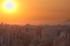 Sunset over Sao Paulo Stock Images
