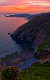 Sunset over Sark, Channel Islands Stock Images