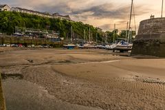 Free Sunset Over Saundersfoot Harbour, Wales Stock Photography - 106412492