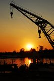 Sunset over Sava river Royalty Free Stock Image