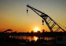 Sunset over Sava river Stock Photos