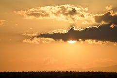 Sunset over the savanna Stock Photography