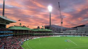 Sunset over SCG Stock Images