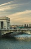 Sunset over the Schuylkill Riv. Er, 30th Street Station, and the Philadelphia Museum of Art. Philadelphia, PA Stock Image