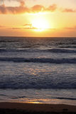 Sunset over the sea Royalty Free Stock Photo