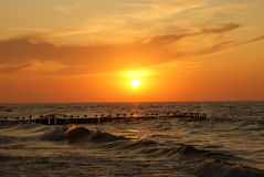 Sunset over the sea. Stock Images